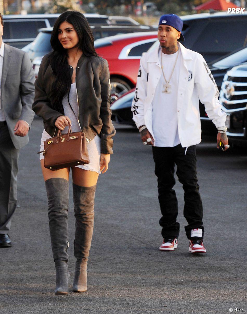 Kylie Jenner et Tyga au concert de Kanye West à Los Angeles