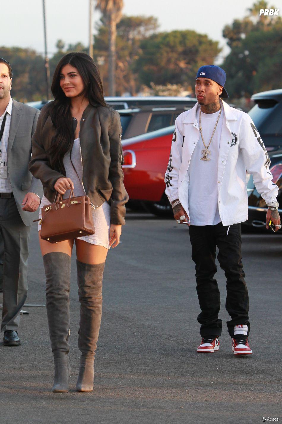 Kylie Jenner et Tyga au Forum d'Inglewood le 24 juin 2016