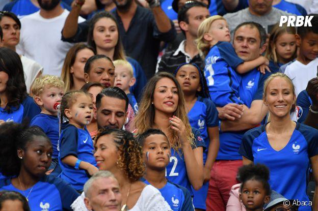Camille Sold et Sandra Evra au match France-Portugal du 10 juillet 2016