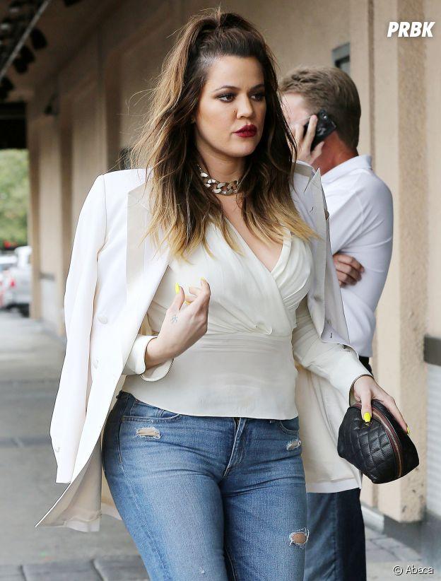 Khloe Kardashian avant qu'elle maigrisse.