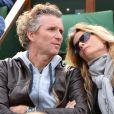 Denis Brogniart et sa femme Hortense à Roland Garros