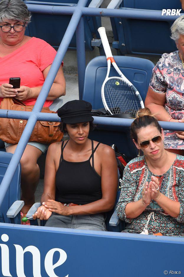 Shy'm soutient Benoît Paire à New York pour l'US Open le 31 août 2016