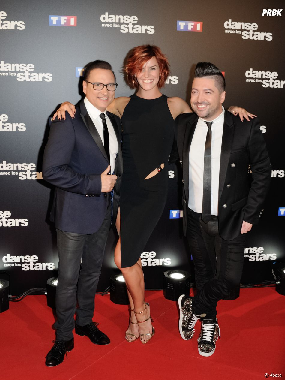 Fauve Hautot entourée de Jean-Marc Généreux et Chris Marques (Danse avec les stars 7).