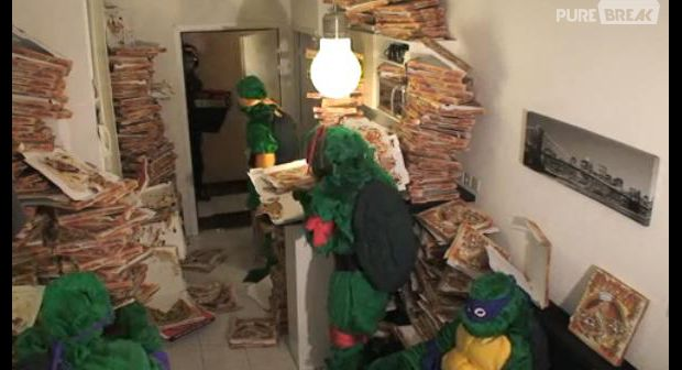 remi gaillard en tortues ninja aime les pizza