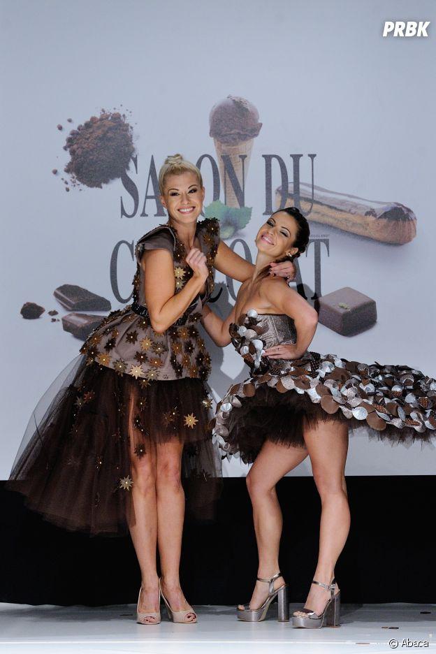 Katrina Patchett et Denitsa Ikonomova au défilé du Salon du chocolat 2016