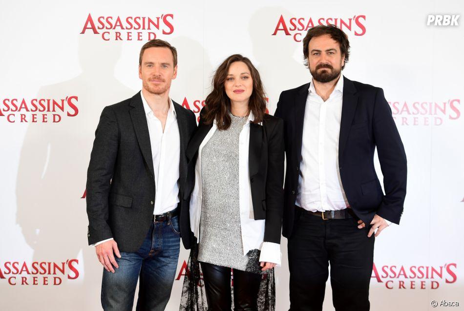 Michael Fassbender, Marion Cotillard et Justin Kurzel à une avant-première d'Assassin's Creed