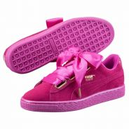 Les Puma Basket Suede Heart en version magenta : des sneakers girly à adopter