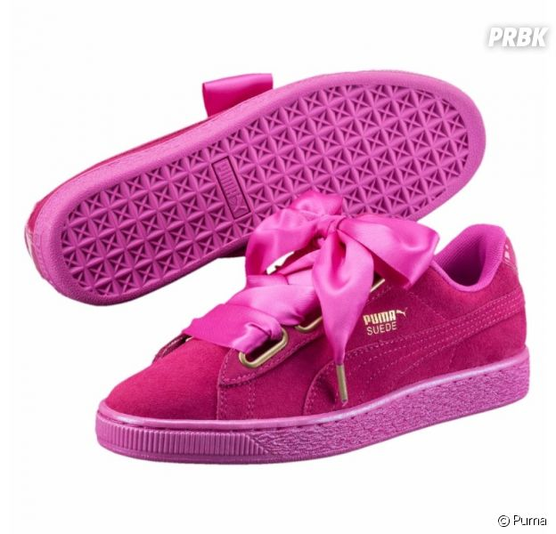 aaec5f7bdace Les Puma Basket Suede Heart en version magenta : des sneakers girly ...
