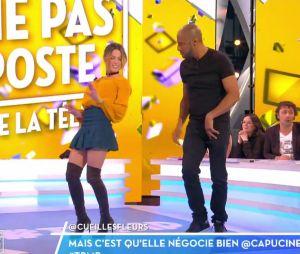 Capucine Anav : oops, sa mini jupe se soulève pendant sa danse sexy dans TPMP le 2 mars 2017