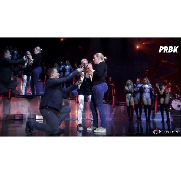 M. Pokora interrompt un concert pour une demande en mariage à Douai