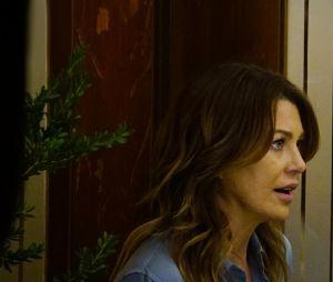 Grey's Anatomy saison 13, épisode 19 : Meredith (Ellen Pompeo) face à Riggs (Martin Henderson) sur une photo
