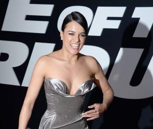 Michelle Rodriguez à l'avant-première de Fast and Furious 8 le 8 avril à New York