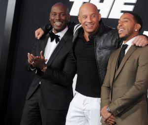 Vin Diesel, Tyrese Gibson et Ludacris à l'avant-première de Fast and Furious 8 le 8 avril à New York