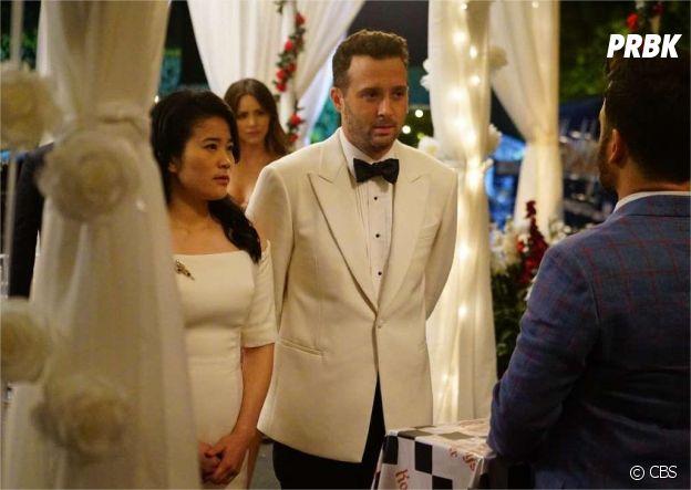 Scorpion siason 3, épisode 23 : Happy (Jadyn Wong) et Toby (Eddie Kaye Thomas) se marient
