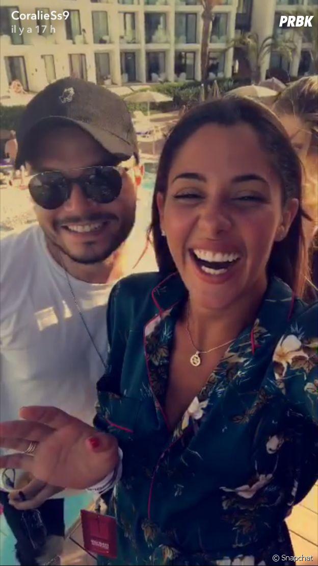 Coralie Porrovecchio (Les Vacances des Anges 2) et Noam Adams sur Snapchat