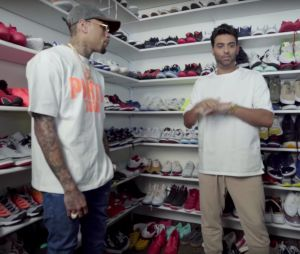 Chris Brown dévoile son immense dressing rempli de sneakers et de vêtements !