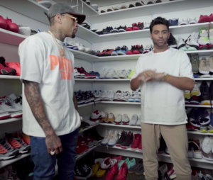 Chris Brown dévoile son immense dressing rempli de sneakers et de vêtements !