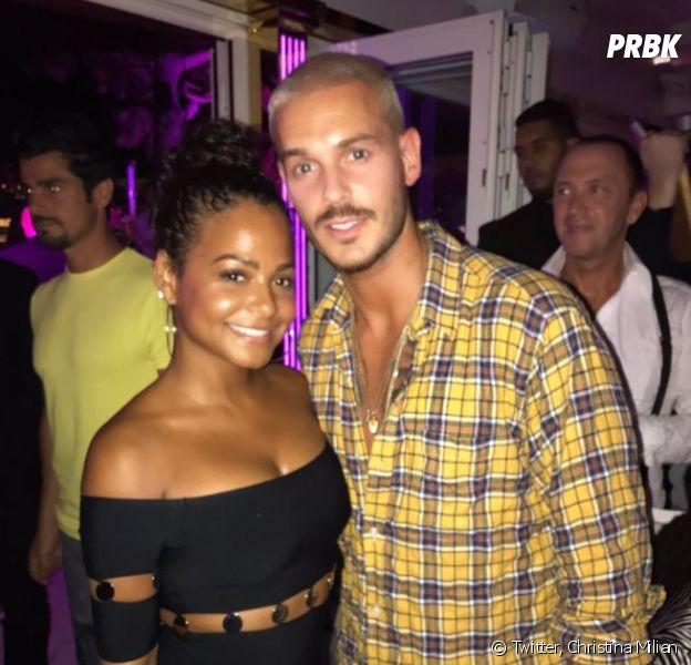 M. Pokora et Christina Milian en couple ? Baiser échangé à bord d'un yacht en août 2017 en France