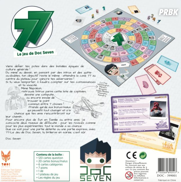 """Doc Seven présente """"77"""" son propre jeu de société"""