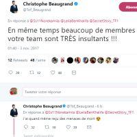 Christophe Beaugrand menacé de mort par les fans de Noré et Kamila : son coup de gueule