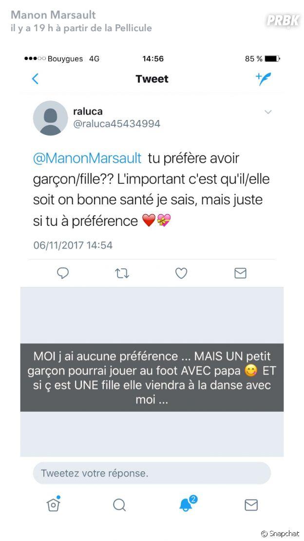 Manon Marsault enceinte : elle révèle si elle préfère avoir un garçon ou une fille