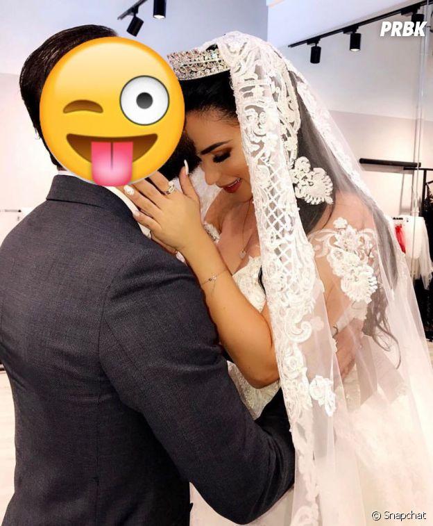 Milla Jasmine pose en robe de mariée sur Snapchat