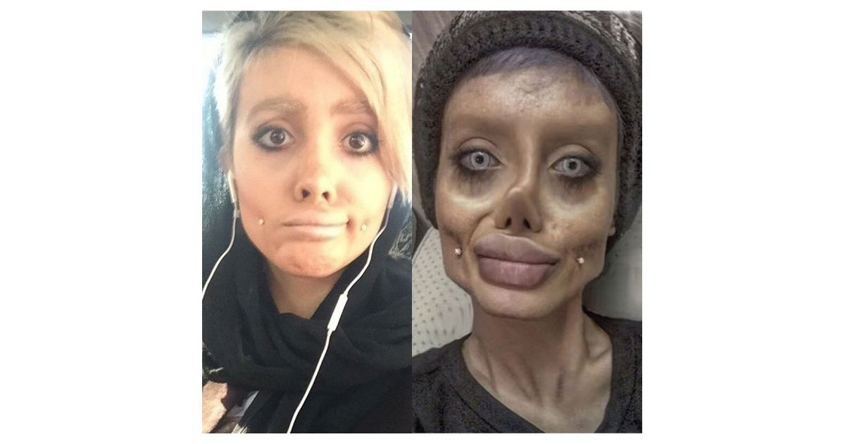 Sahar Tabar Snapchat >> Angelina Jolie : son sosie flippant était un fake - Purebreak