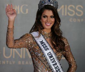 Iris Mittenaere lors de son élection à Miss Univers en janvier 2017
