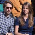 Ophélie Meunier et son fiancé Mathieu Vergne à Rolland Garros
