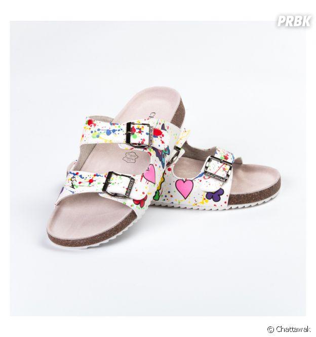 Chattawak x Michael Edery : la collab pop et colorée (ici les sandales Los Angeles à 39,90€).