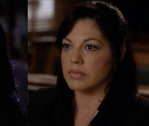 Sara Ramirez (Callie) lors de sa première apparition dans Grey's Anatomy VS lors de sa dernière apparition