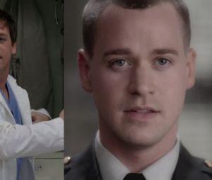 T.R. Knight (George) lors de sa première apparition dans Grey's Anatomy VS lors de sa dernière apparition