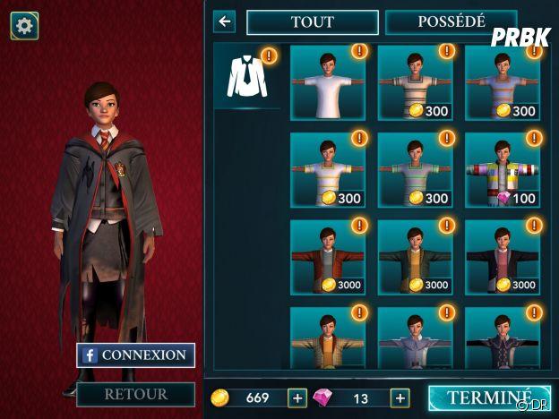 Hogwarts Mystery : le choix de la tenue