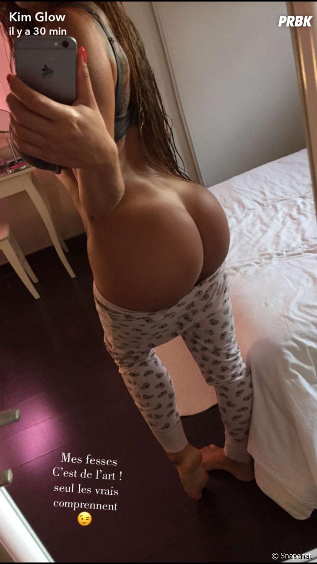 Kim Glow s'affiche fesses nues sur Snapchat le 30 avril 2017