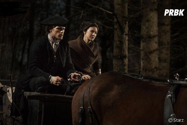 Outlander saison 4 : Jamie (Sam Heughan) et Claire (Caitriona Balfe) sur une photo