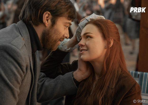 Outlander saison 4 : Brianna et Roger sur une photo