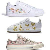 Nike, adidas, Converse... Les modèles iconiques se parent de motifs floraux pour la rentrée