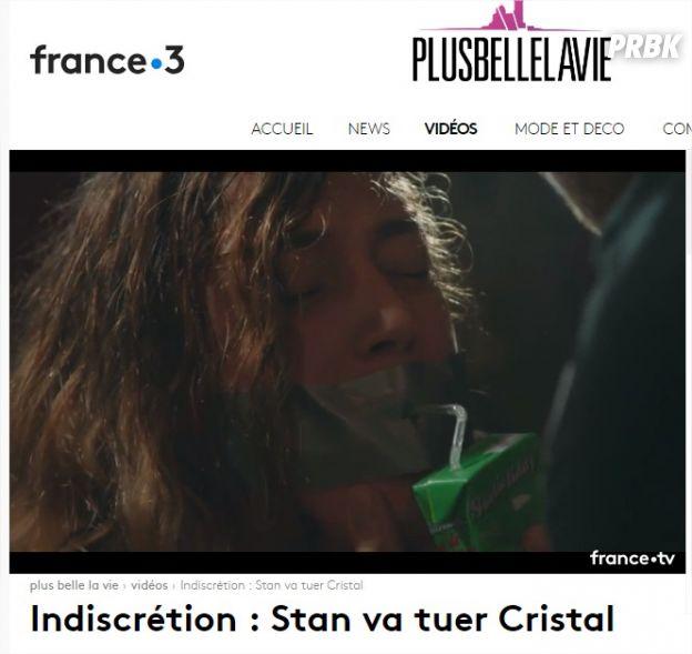 Plus belle la vie : Cristal bientôt tuée au Mistral ? L'horrible vidéo