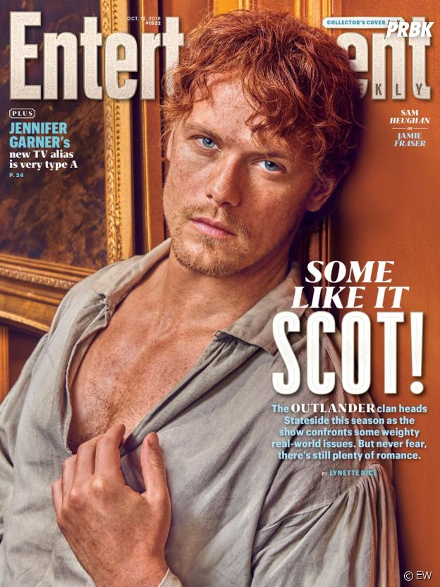 Outlander saison 4 : Sam Heughan en couverture de Entertainment Weekly