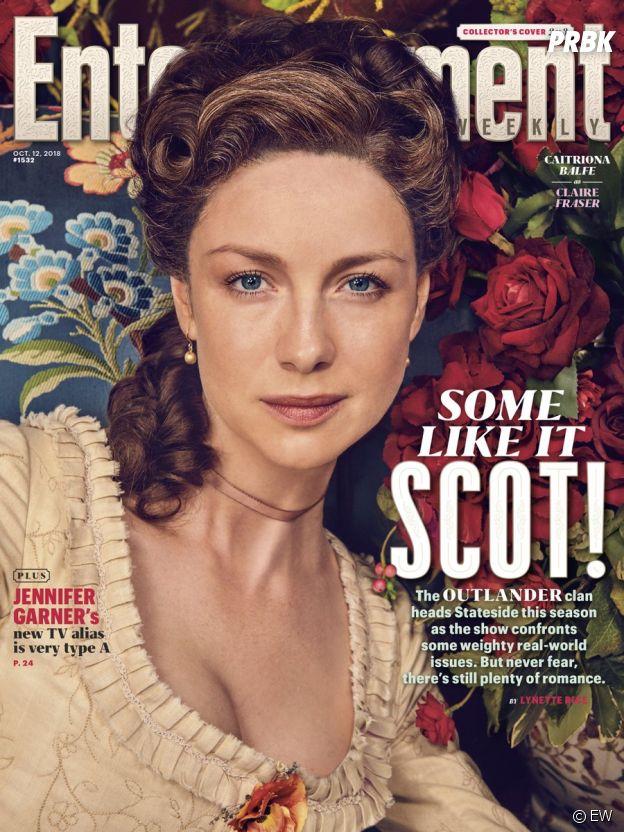 Outlander saison 4 : Caitriona Balfe en couverture de Entertainment Weekly