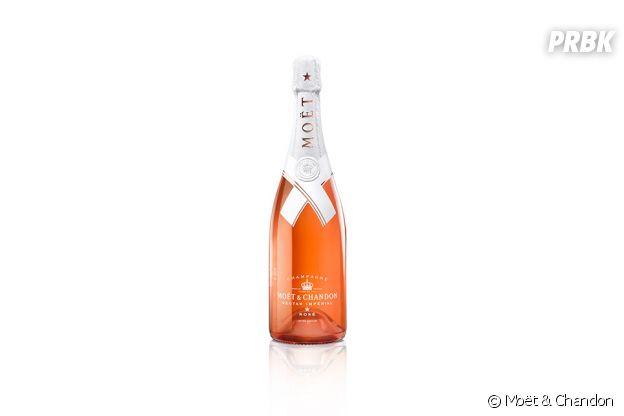 Virgil Abloh a fait une collaboration avec le champagne Moët & Chandon.