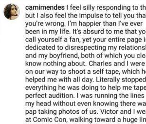 Camila Mendes (Riverdale) répond aux critiques sur son couple avec Charles Melton