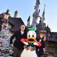 Bérénice Bejo et Michel Hazanavicius à Disneyland Paris pour fêter Noël