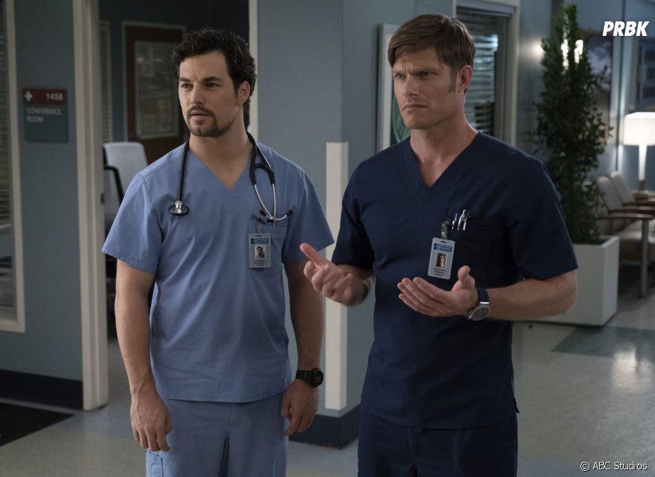 Grey's Anatomy saison 15, épisode 9 : DeLuca et Link sur une photo