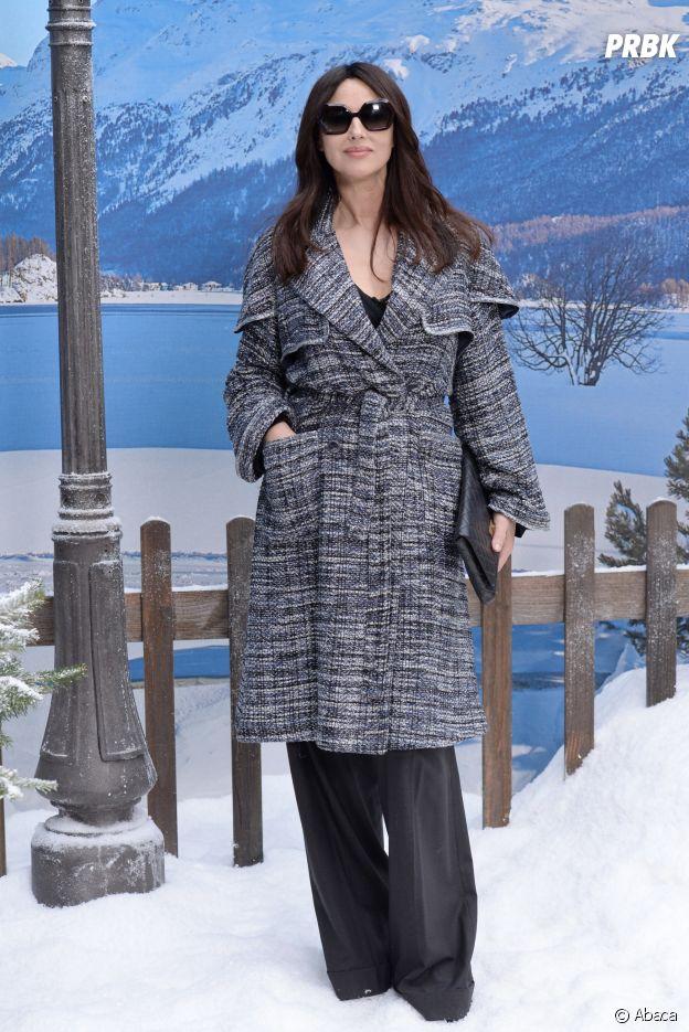 Monica Bellucci au dernier défilé Chanel dessiné par Karl Lagerfeld