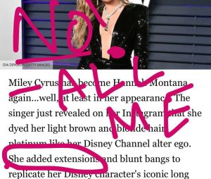 Miley Cyrus en Hannah Montana : elle précise qu'elle ne porte pas de perruque, ce sont ses cheveux