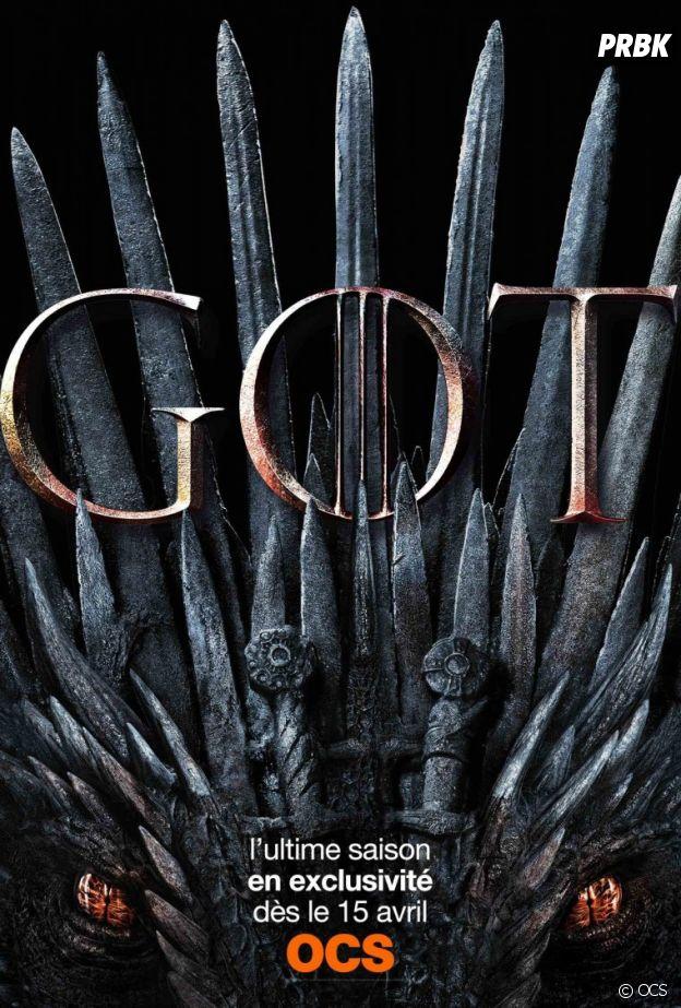 Game Of Thrones saison 8 dès le 15 avril sur OCS.