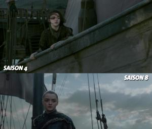 Game of Thrones : Arya à la fin de la saison 4 VS à la fin de la saison 8