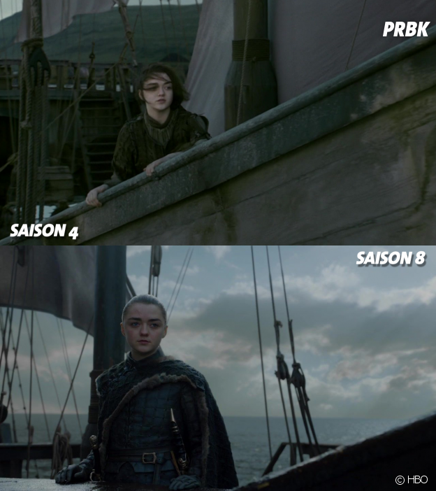 Game of Thrones : Arya à la fin de la saison 4 VS à la fin de la saison 8