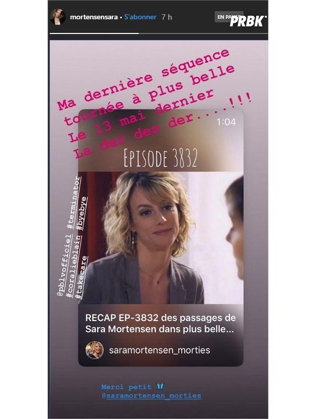 Plus belle la vie : la dernière scène de Sara Mortensen (Coralie) diffusée... hier